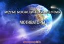 Мотиваторы: мудрые мысли, цитаты и афоризмы