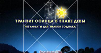 Транзит Солнца в знаке Девы
