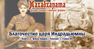 Махабхарата-Вана-парва-глава85 - Благочестие царя Индрадьюмны