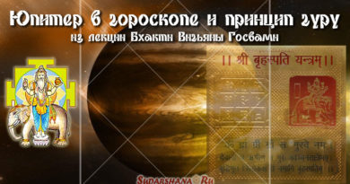 Юпитер в гороскопе и принцип Гуру - БВГ