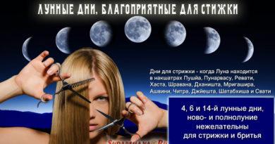 Лунные дни для стрижки волос и ногтей