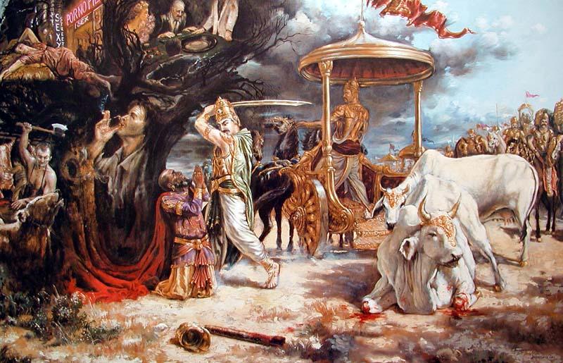 Махараджа Парикшит встретил олицетворение века Кали