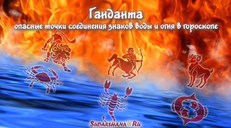 Ганданта - опасные точки соединения знаков воды и огня