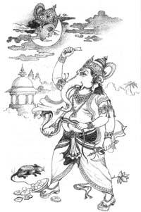 Ганеша проклинает Чандру (Луну)