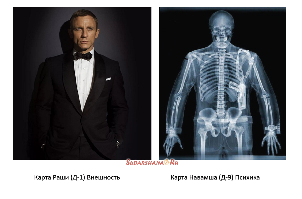 Навамша D9 - рентген карты Раши D1