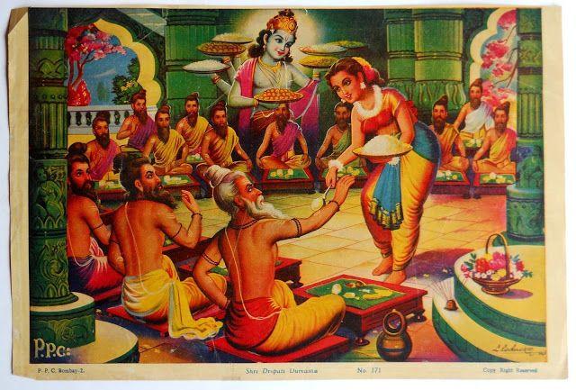 Драупади кормит мудрецов из волшебного горшочка