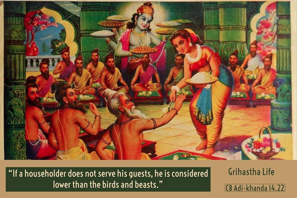 Домохозяин обязан накормить гостей - правило ведической культуры