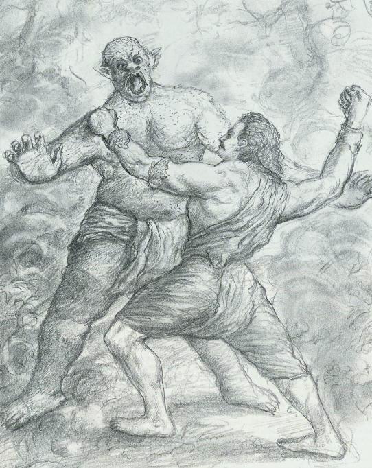 Бхимасена убивает ракшаса Кирмиру