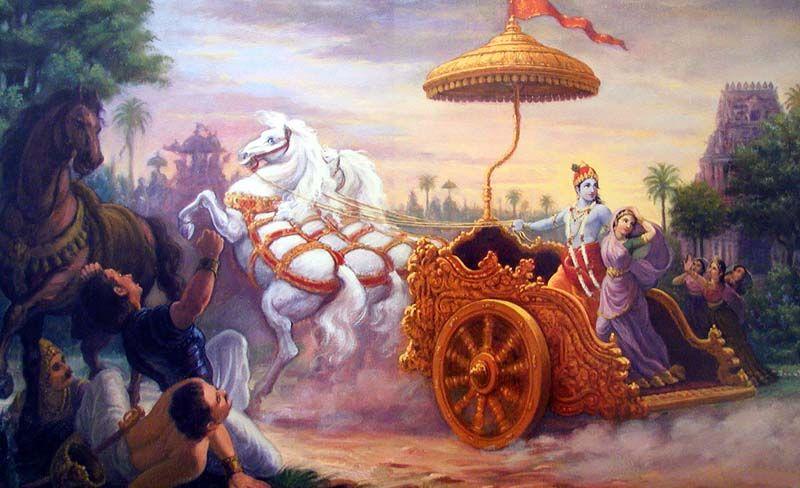 Кришна похищает Рукмини