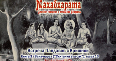 Махабхарата - Вана-парва глава 10 - Встреча Пандавов с Кришной