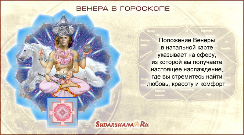 Что означает положение Венеры (Шукры) в гороскопе