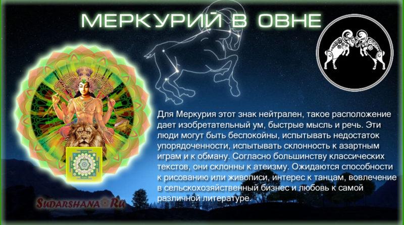 Меркурий в Овне - Буддха в Меше